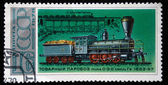 USSR - CIRCA 1978: A stamp printed in USSR shows cargo steam locomotive of type 0-3-0 series Gv, stamp from series, circa 1978 — 图库照片