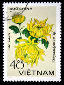 VIETNAM- CIRCA 1978: A stamp printed in Vietnam shows image of a Chrysanthemum — Stockfoto