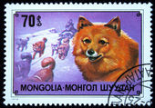 MONGOLIA - CIRCA 1978: A stamp printed in Mongolia shows Chukchi reindeer dog beater, one stamp from series, circa 1978 — Stock Photo