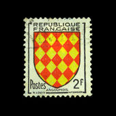 FRANCE - CIRCA 1959: A stamp printed in France shows coat of arms of Angoumois, circa 1959 — Stock Photo