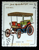 UMM AL QIWAIN - CIRCA 1968: A stamp printed in one of the emirates in the United Arab Emirates shows vintage car Daimler - 1896 year, full series - 48 of stamps, circa 1968 — Stock Photo