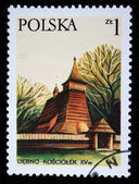 POLAND - CIRCA 1970s: A stamp printed in the Poland shows Debno Kosciolek, circa 1970s — Stock Photo