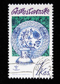 CZECHOSLOVAKIA - CIRCA 1978: A stamp printed in Czechoslovakia shows decorative utensils from Czechoslovakia, circa 1978 — Stock Photo