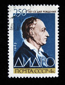 USSR - CIRCA 1963: A stamp printed by USSR shows Denis Diderot, circa 1963 — Stock Photo