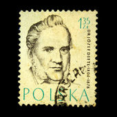 POLAND - CIRCA 1957: A stamp printed in Poland shows Dr Josef Dietl, circa 1957 — Stock Photo