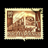 POLAND - CIRCA 1978: A stamp printed in Poland shows locomotive, circa 1978. — Zdjęcie stockowe