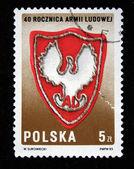 1983 年頃 - ポーランド: ポーランドの印刷スタンプに示します 1983 年頃のポーランドの軍隊の紋章 — ストック写真