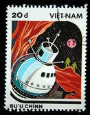 VIETNAM - CIRCA 1988: A stamp printed in Vietnam shows fantastic planet, CIRCA 1988 — ストック写真