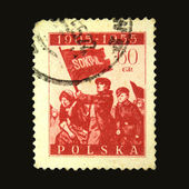 POLAND - CIRCA 1955: A stamp printed in Poland honoring First Russian revolution of 1905 year, circa 1955 — Foto Stock