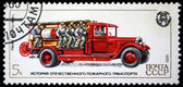 USSR - CIRCA 1985: A stamp printed in Russia, shows fire truck, 1933, series Russian Fire Vehicles, circa 1985 — Stock Photo
