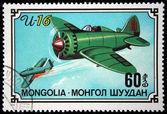 MONGOLIA - CIRCA 1980: stamp printed by Mongolia, shows aeroplane, circa 1980 — Foto de Stock