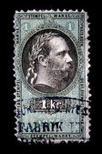 AUSTRIA - CIRCA 1875: Austrian postage stamp showing Franz Joseph I of Austria, circa 1875 — Stock Photo