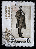 USSR - CIRCA 1965: A stamp printed in the USSR shows Fyodor Shaliapin from draw by artist Valentin Serov, circa 1965 — Foto Stock