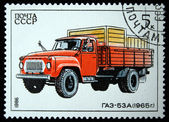 USSR - CIRCA 1986: A stamp printed in in the USSR shows truck GAZ-53A - 1965, circa 1986 — Stock Photo