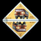 苏联-大约在 1971 年,在苏联邮票显示卡车天然气-66 系列,大约在 1971 — 图库照片