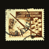 POLAND - CIRCA 1954: A stamp printed in Poland shows glider, circa 1954 — Photo