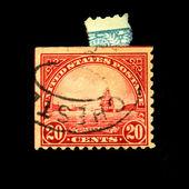 USA - CIRCA 1900s: A stamp printed in USA shows Golden Gate in San Fracisco, circa 1900s — 图库照片