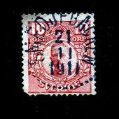 SWEDEN - CIRCA 1911: A stamp printed in Sweden shows Gustaf V of Sweden, circa 1911 — Stock fotografie