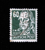 GERMANY - CIRCA 1940s-1950s: A stamp printed in Germany shows Georg Wilhelm Friedrich Hegel, circa 1940s-1950s — Stock Photo