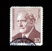 DDR - CIRCA 1960s: A stamp printed in DDR (East Germany) shows Hermann Duncker, circa 1960s — Stock Photo