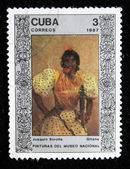 "CUBA - CIRCA 1987: A stamp printed in Cuba shows draw by artist Joaquin Sorolla ""Gypsy"", circa 1987 — Stock Photo"