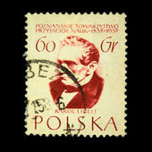 POLAND - CIRCA 1958: A stamp printed in Poland shows Karol Libelt, circa 1958 — ストック写真