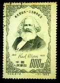 CHINA - CIRCA 1953: A stamp printed in China shows Karl Marx circa 1953 — ストック写真