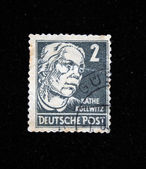 GERMANY - CIRCA 1960s: A stamp printed in Germany shows Kathe Kollwitz, circa 1960s — Stock Photo