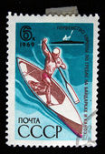 USSR - CIRCA 1969: A stamp printed in the USSR shows kayaking, circa 1969 — Fotografia Stock
