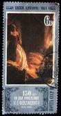 Sovjetunionen - ca 1980: en stämpel tryckt i ussren visar rita av konstnären konstantin flavitsky - prinsessan tarakanova på fästningen peter och paul vid tiden för syndafloden, ca 1980 — Stockfoto