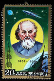 DPR KOREA - CIRCA 1985: A stamp printed in DPR KOREA (North Korea) shows Konstantin Tsiolkovski, circa 1985 — Stock Photo
