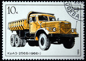 USSR - CIRCA 1986: A stamp printed in in the USSR shows Truck KrAZ-256B - 1966, circa 1986 — Stock Photo
