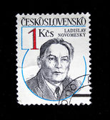 Cecoslovacchia - circa settanta: un timbro stampato in cecoslovacchia dimostra ladislav novomesky, circa settanta — Foto Stock