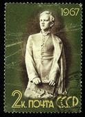 Urss - circa 1967: un sello impreso en la Urss muestra lenin, circa 1967 — Foto de Stock