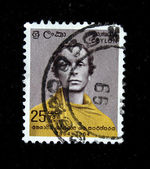 CEYLON - CIRCA 1964: A stamp printed in Ceylon (present time Sri Lanka) shows writer Lewis Carroll, circa 1964 — Stock Photo