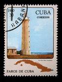 CUBA - CIRCA 1980: A stamp printed in the Cuba shows Light house Punta Maist in Guantanamo, circa 1980 — Stock Photo