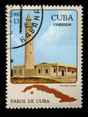 CUBA - CIRCA 1980: A stamp printed in the Cuba shows Light house de Jagua in Cienfuegos, circa 1980 — Stock Photo