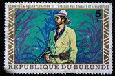 Republic of Burundi - CIRCA 1970s: A stamp printed in Burundi shows David Livingstone, circa 1970s — Stock Photo