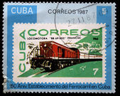 CUBA - CIRCA 1987: A stamp printed in Cuba shows locomotive BB-69, circa 1987 — Zdjęcie stockowe