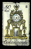 CZECHOSLOVAKIA - CIRCA 1979: A stamp printed in Czechoslovakia shows mantel clock, circa 1979 — Stock Photo