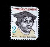 CZECHOSLOVAKIA - CIRCA 1983: A Stamp printed in Czechoslovakia shows Martin Luther, circa 1983 — Stock fotografie