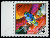 Węgry - około 1978: znaczek wydrukowany na Węgrzech pokazuje satelity Marsa, około 1978 — Zdjęcie stockowe