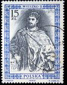 POLAND - CIRCA 1987: : A stamp printed in Poland shows King of Poland Mieszko II, circa 1987 — Stock Photo