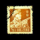 CHINA - CIRCA 1958: A stamp printed in China shows miner, circa 1958 — 图库照片