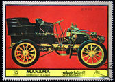 MANAMA (AJMAN) - CIRCA 1972: A stamp printed in emirate Ajman of the United Arab Emirates shows car Mors - 1900, series, circa 1972 — Stock Photo
