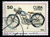 CUBA - CIRCA 1985: A stamp printed in Cuba shows the Simson motorcycle, produced 1936, circa 1985 — Stock Photo
