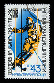 BULGARIA - CIRCA 1981: A stamp printed in Bulgaria shows skier, circa 1981 — Stock Photo