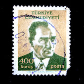 TURKEY - CIRCA 1971: A stamp printed in Turkey shows Mustafa Kemal Ataturk, circa 1971 — Stock Photo