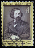 USSR - CIRCA 1978: A stamp printed in the USSR shows Nikolay Chernyshevsky, circa 1978 — Stockfoto
