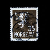 NORWAY - CIRCA 1931: A stamp printed in Norway shows Coat of Arms of Norway, circa 1931 — Stock Photo